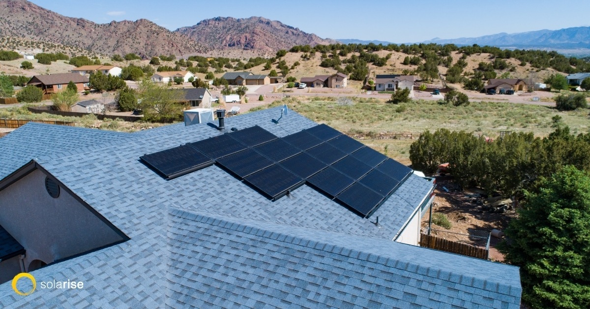 Solar Panels Installed by the Solar Installation Experts on the Roof of a House